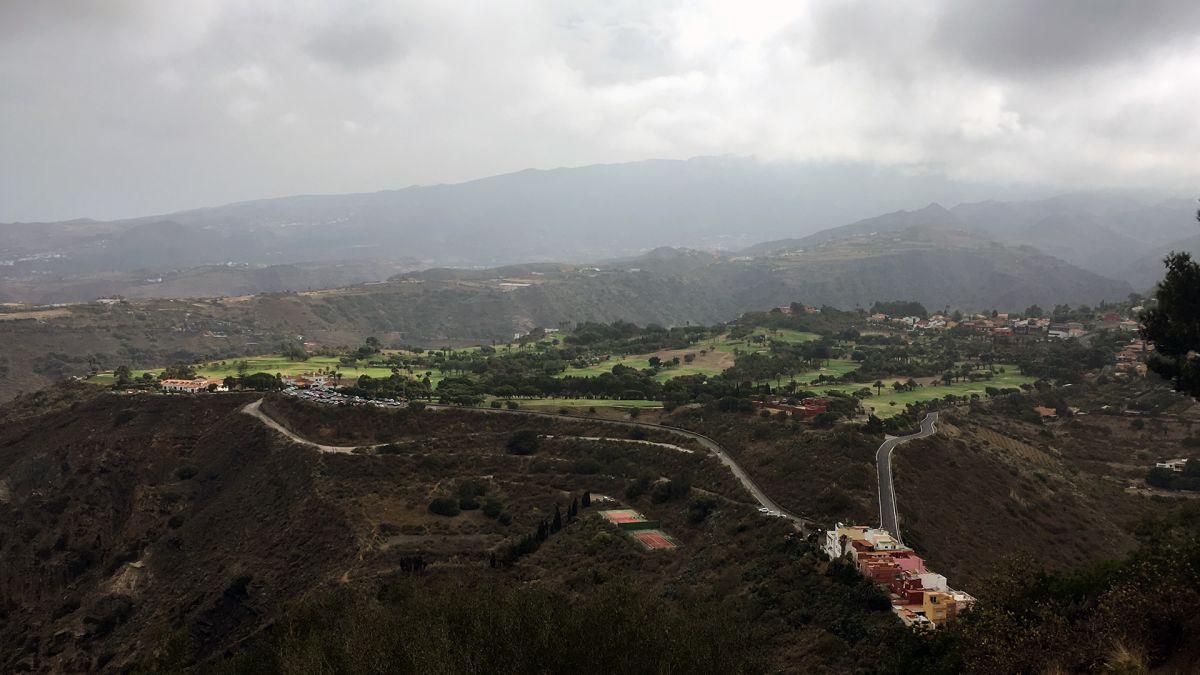 Der Real Club de Golf auf Gran Canaria vom Pico de Bandama aus gesehen. (Foto: Golf Post)