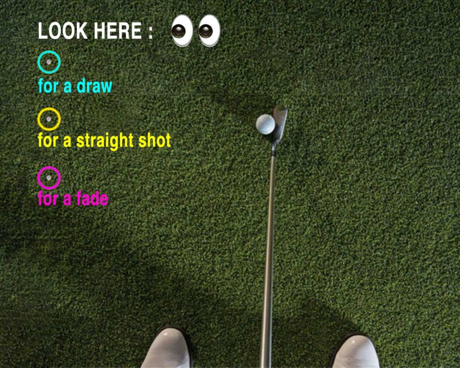 Let your eyes guide your swing path naturally