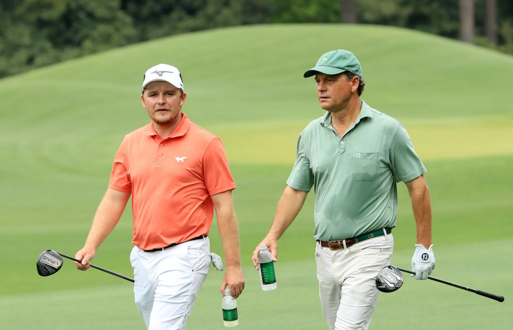 Eddie Pepperell und Jeff Knox am Moving Day in Augusta. (Foto: Getty)