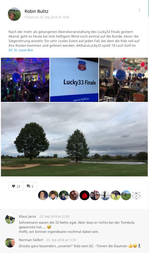 Unser Redakteur war begeistert vom Lucky 33 Finale. (Foto: Golf Post)