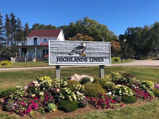 Begrüßung am Highland Golf Course. (Foto: Jürgen Linnenbürger)