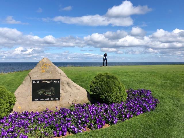 Ein Blick auf das 15. Tee im Fox Harb'r Golf Course. (Foto: Jürgen Linnenbürger)