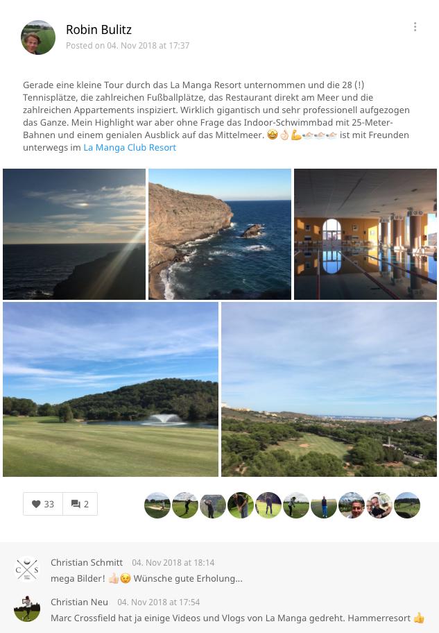 Die Eindrücke unseres Redakteurs festgehalten in der Golf Post App. (Foto: Golf Post)