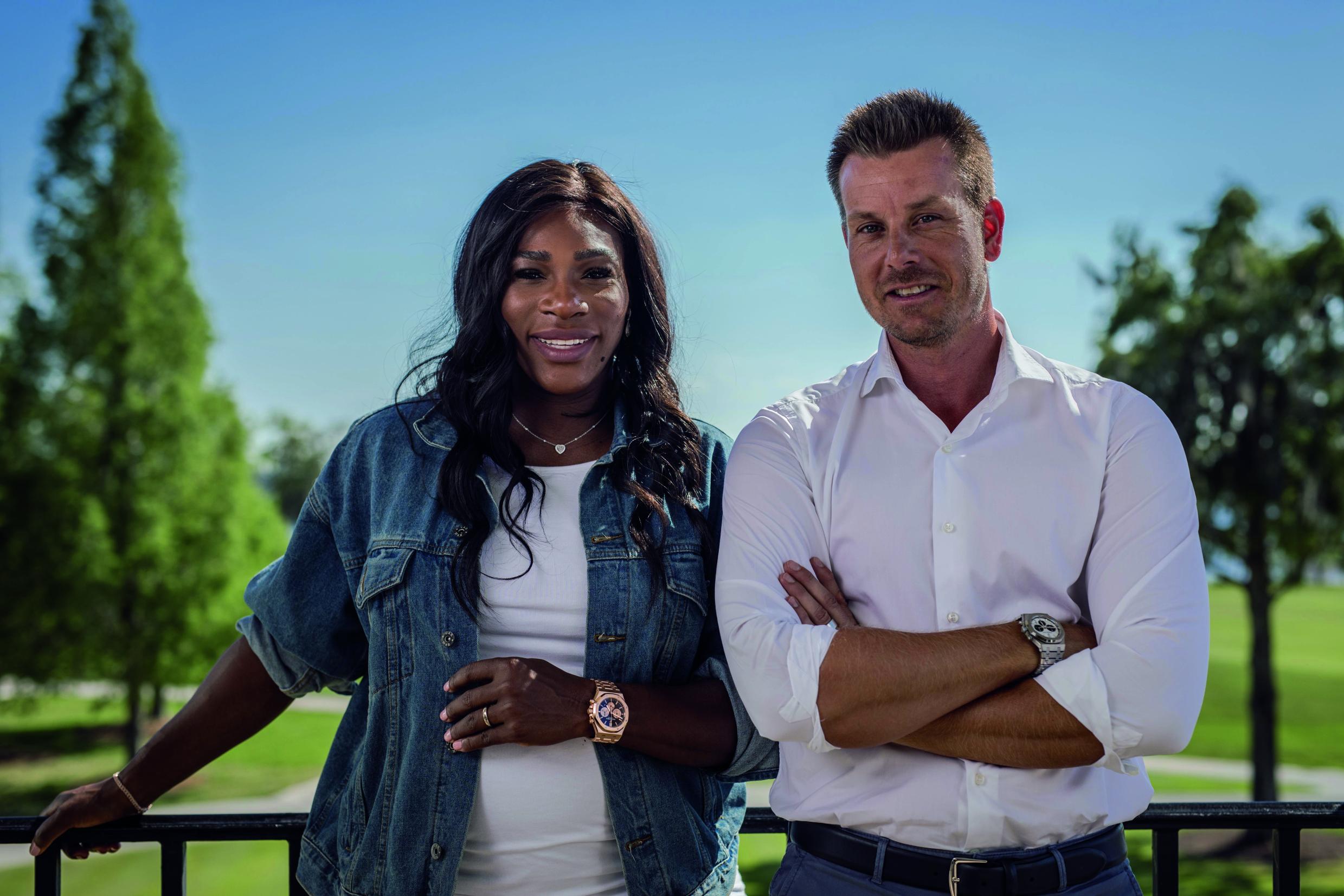 An der Seite der Weltklasse-Tennisspielerin Serena Williams macht Henrik Stenson ebenfalls eine gute Figur. (Foto: Audemars Piguet)