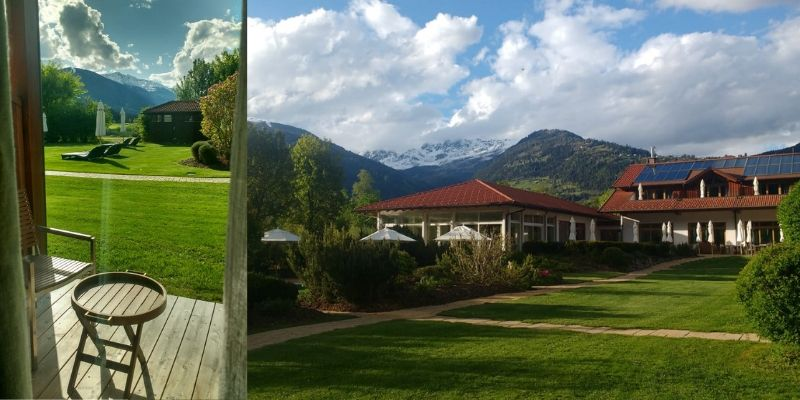 Die fantastische Aussicht aus den Zimmern des Dolomitengolf Hotel & Spa. (Foto: Golf Post)