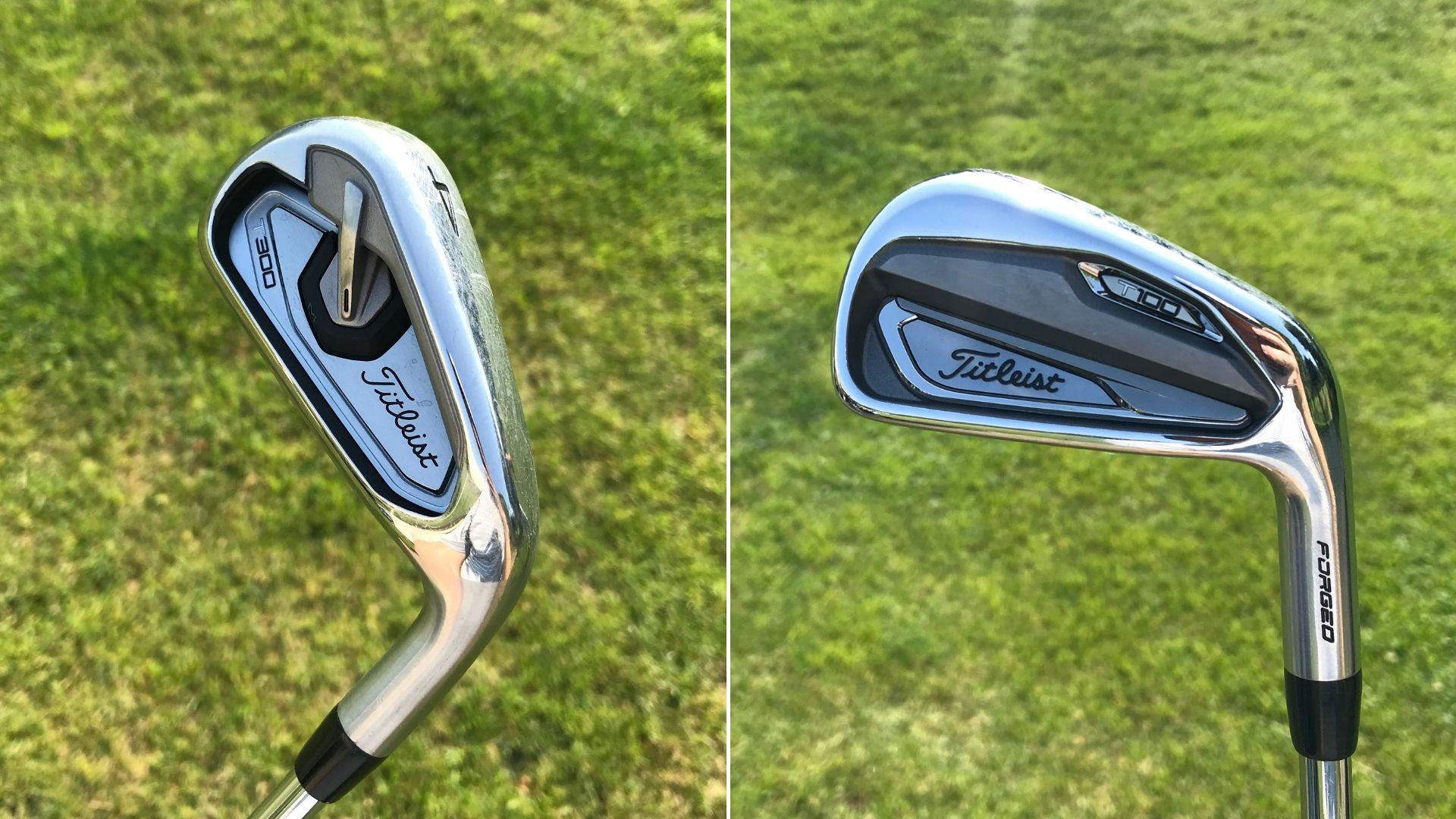 Links: das leicht zu spielende T300, rechts: das Players Eisen der Serie T100. (Foto: Golf Post)