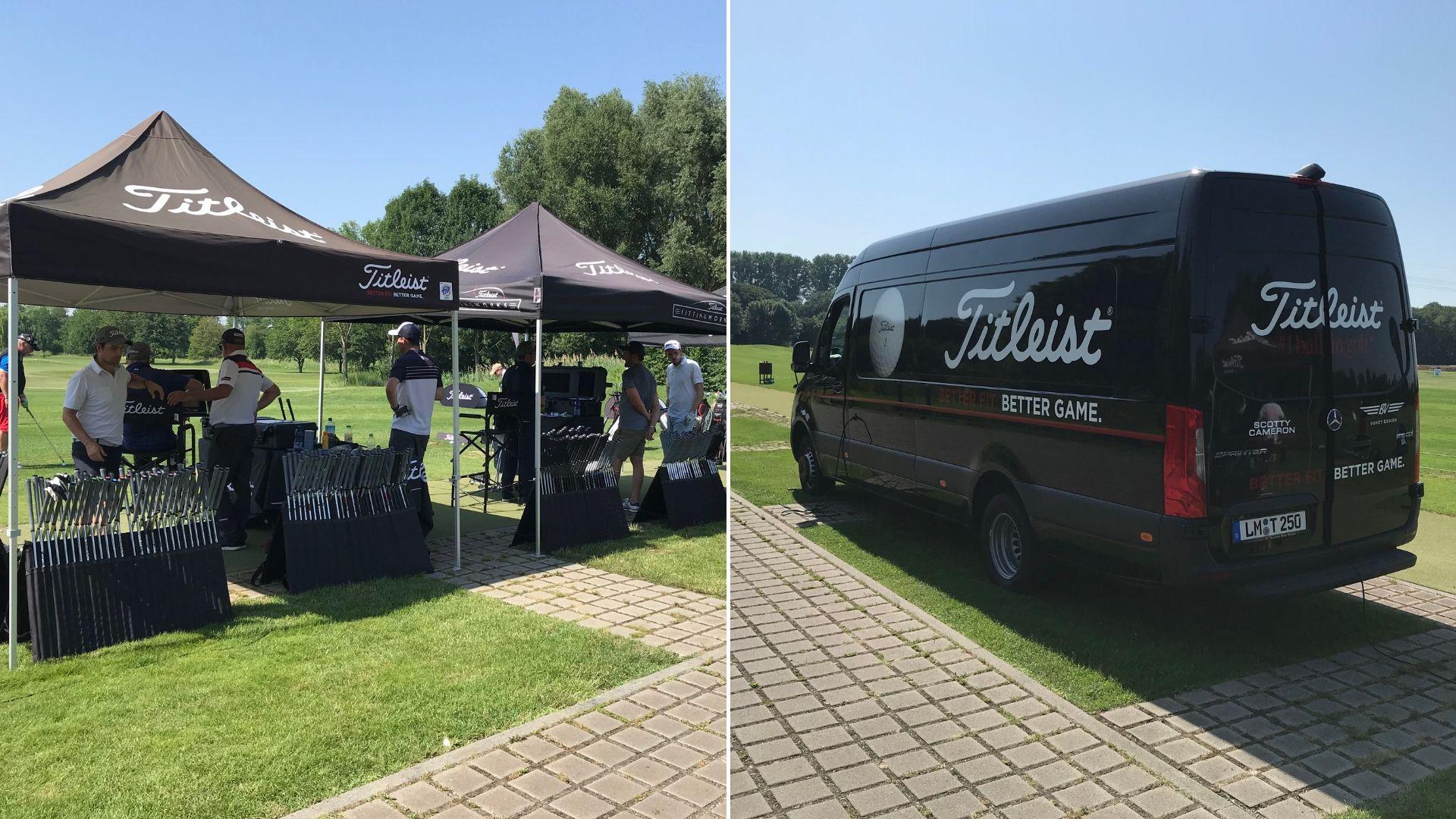 Mit dem neuen Mini-Tour-Truck sind die Fitting-Experten von Titleist deutschlandweit unterwegs und rüsten die Spieler mit den neuen Modellen aus. (Foto: Golf Post)