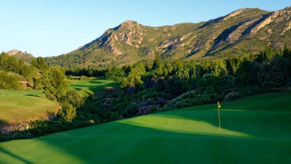 Golf Bonmont: Fairway und 17. Grün (Foto: Golf Bonmont)