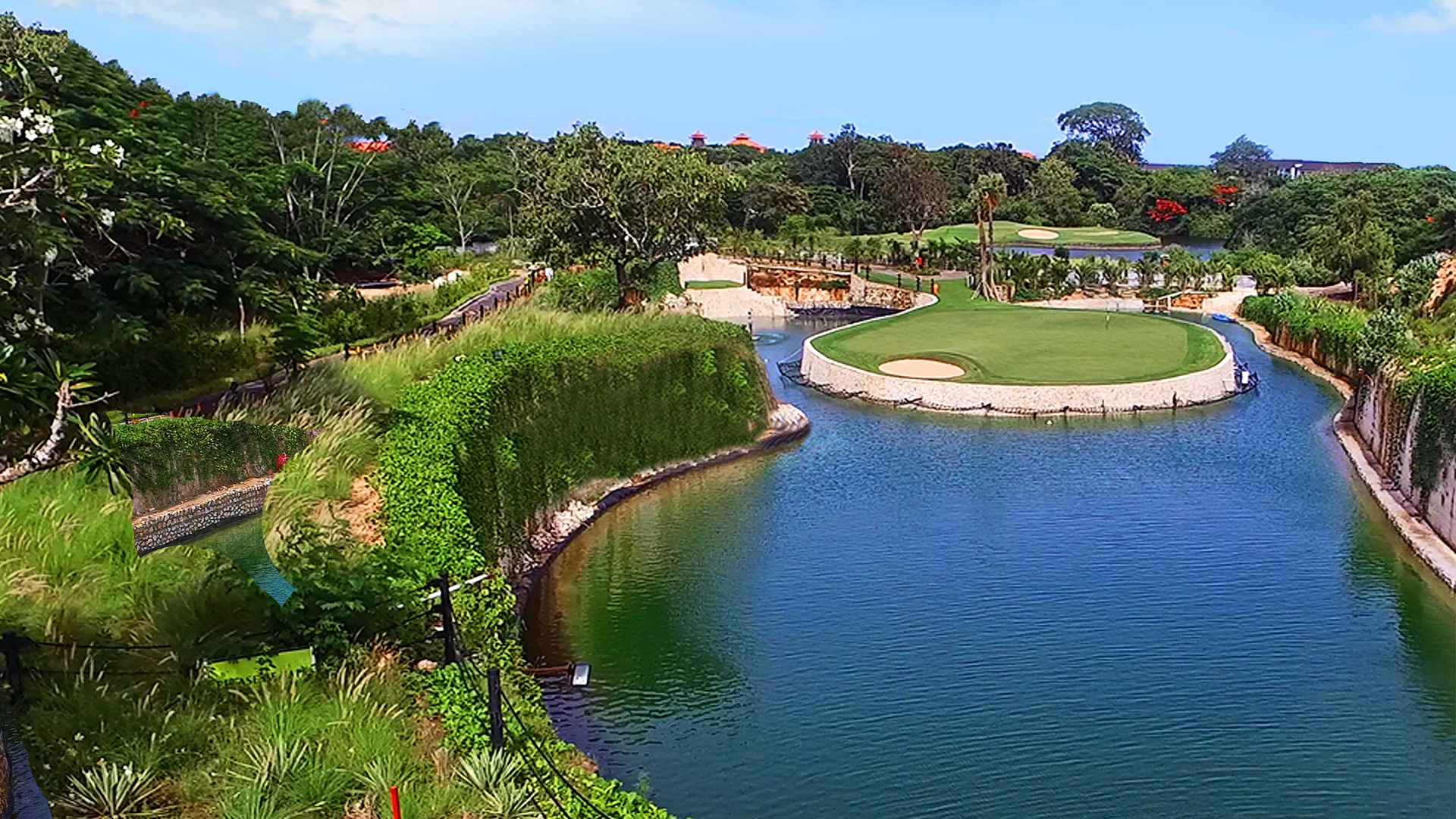 Bahn 9 des Bali National Golf Club. (Foto: Bali National)