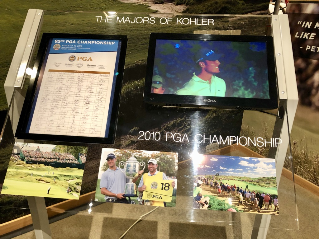 Würdigung der 'PGA Championship-Sieger' im Kohler Design Center. (Foto: Jürgen Linnenbürger)