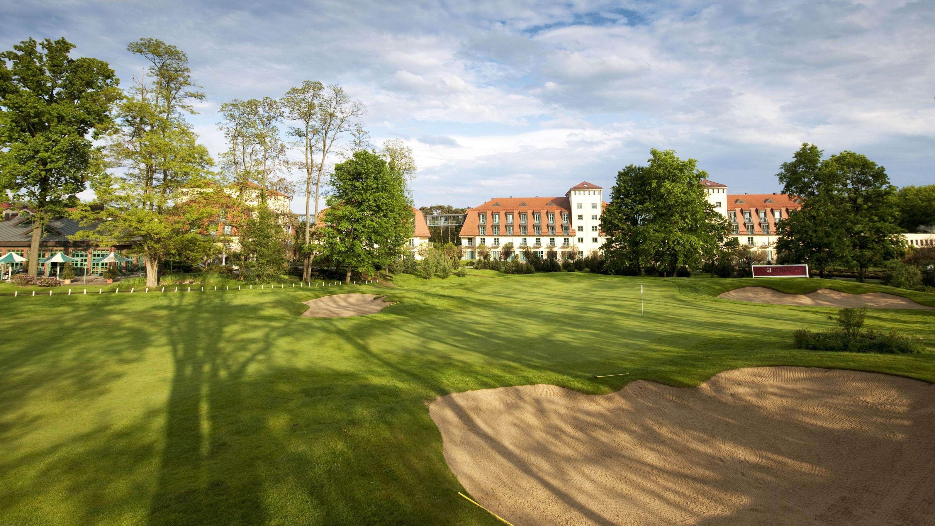 Der Arnold Palmer Platz liegt am nächsten zum Hotel und bleibt den Winter über geöffnet. (Foto: A-Rosa)