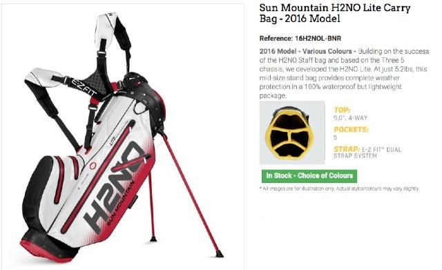 40d8421bfb6 Sun Mountain H2NO Lite Carry Bag Review