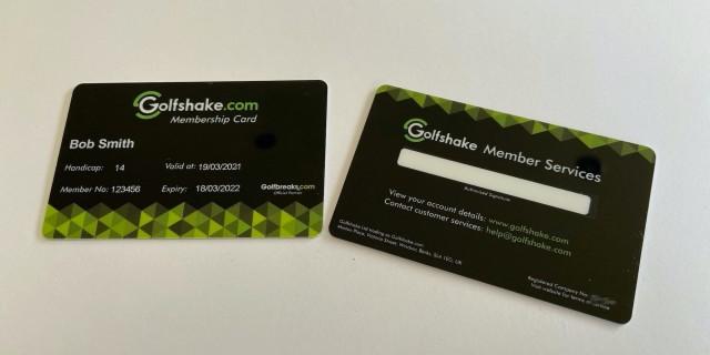 Golfshake Membership Card