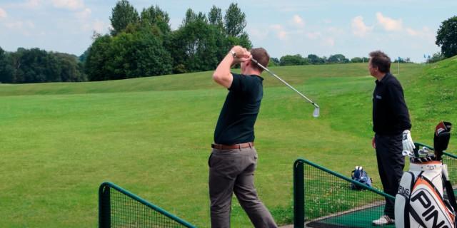 Golfers at Range