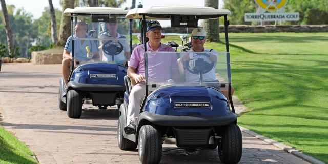 Golfers in Buggies