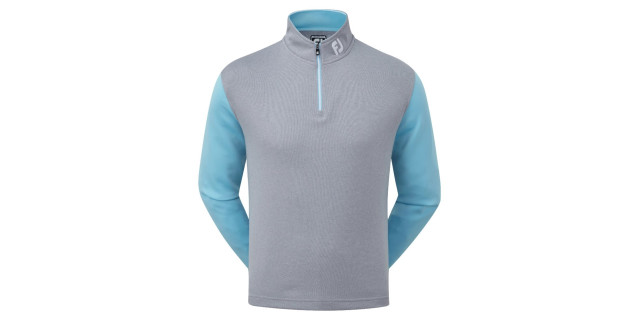 5a1c82ee951d Double Layer Knit Contrast Chill-Out – Heather Grey with Light Blue RRP: £70