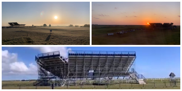 Open Championship Stands Built at Royal St George's