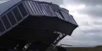 Strong Winds Destroy Tournament Structure at Gullane Golf Club