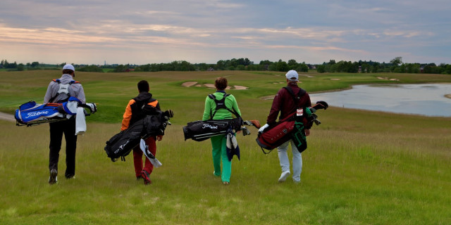 Golfers With Bags