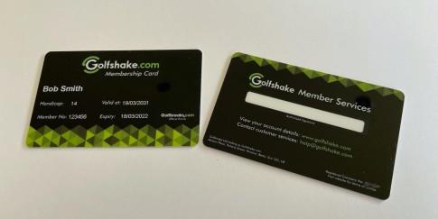 Golfshake Member Card