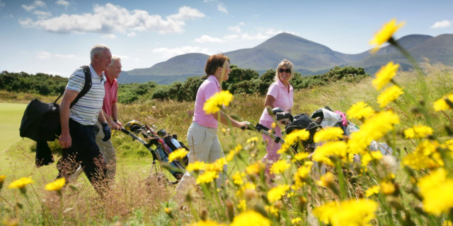 Golfers With Trolleys