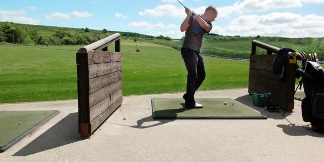Golfer at Range