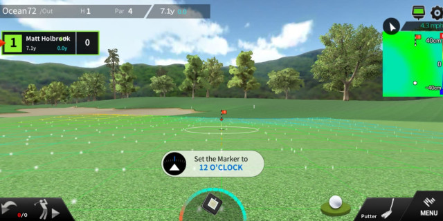 Nearest the pin mode on Phigolf
