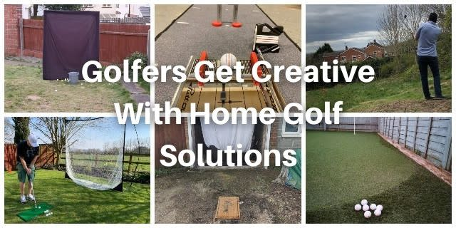 Golfers Get Creative With Home Golf Solutions