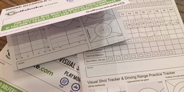 Golf Stat Tracking Cards