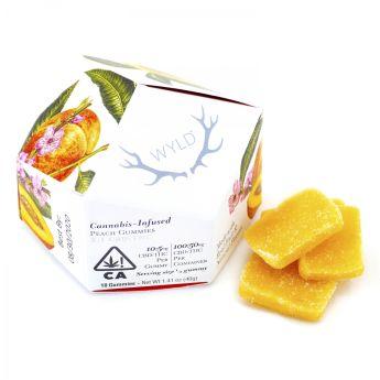 WYLD Peach CBD Gummies