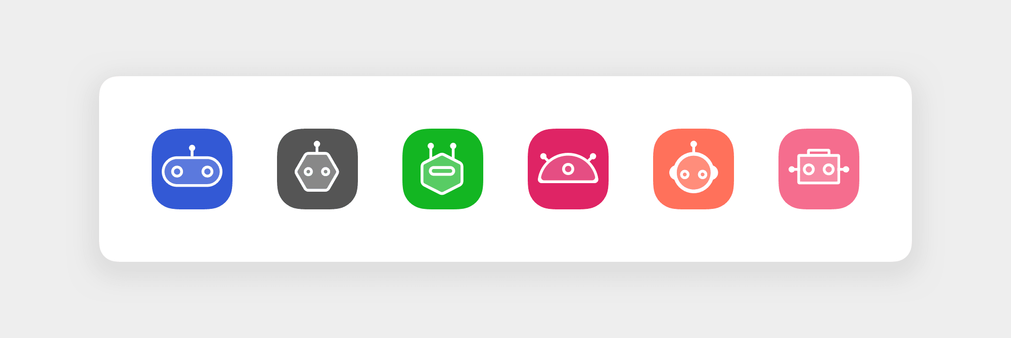 Icons for customizing your robots