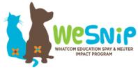 WeSNIP - Whatcom Education Spay and Neuter Impact Program