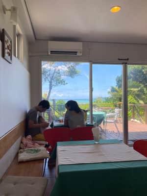 italicoというパスタ屋さんでお昼  畑のど真ん中にある 自然豊かなパ...