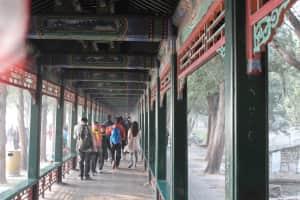 @頤和園④  こんな長い回廊がありました。まさに規格外の大きさです💦