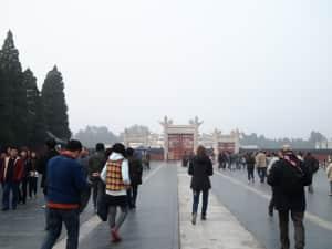 @天壇①  ここが最後の観光になりました。 天壇は明朝から清朝にかけて、皇...