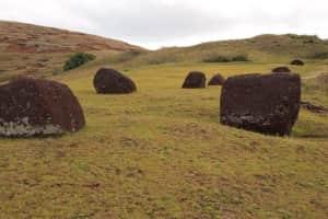 イースター島の丘陵地