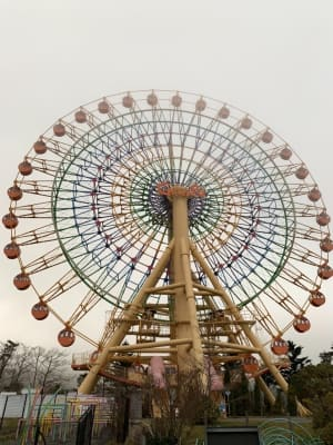 富士サファリパークに行く前に、もう少し高地にある「ぐりんぱ」という遊園地へ...
