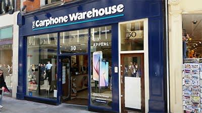 Carphone Warehouse vodafone