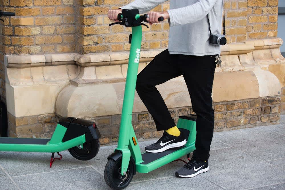 bolt electric scooter in ireland