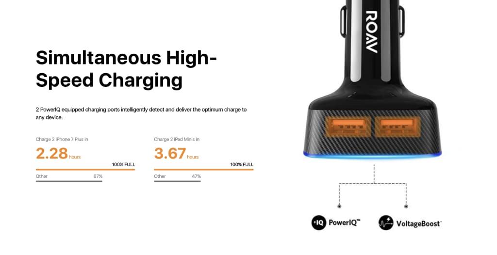 ROAV Viva Pro charging tech