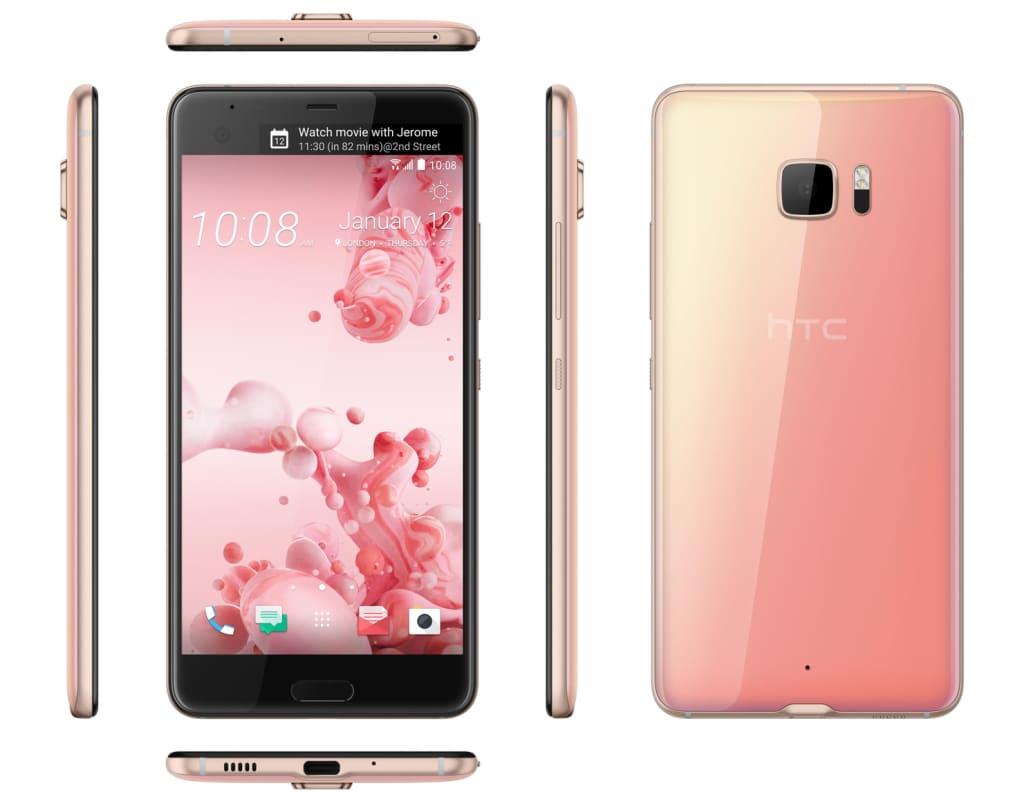 Pink HTC U Ultra