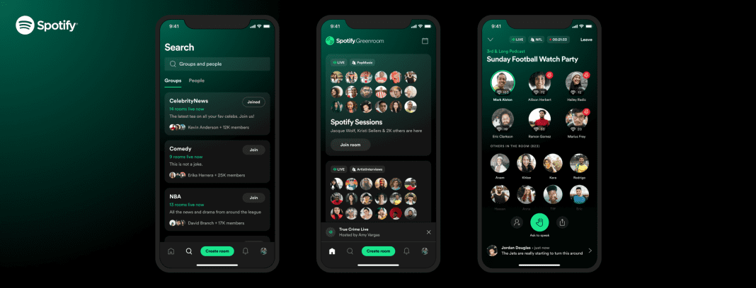 Spotify greenroom launches