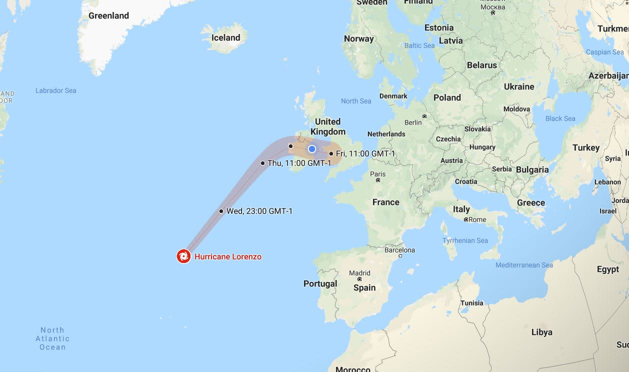 track storm lorenzo google maps