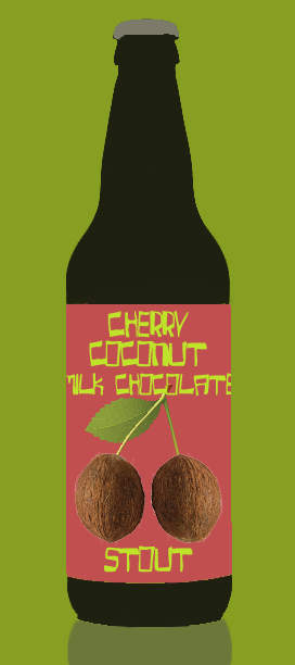 Cherry Coconut Mint Chocolate Stout craft beers AI generated beer name with neural networks