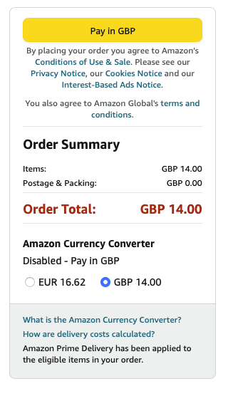 amazon pay sterling