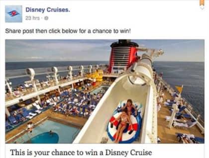 fake disney cruise