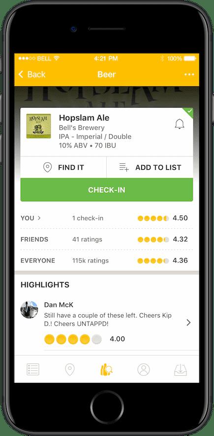untappd ios app