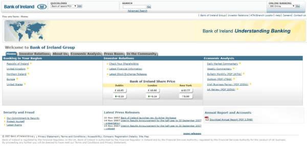 bank of ireland ten years ago