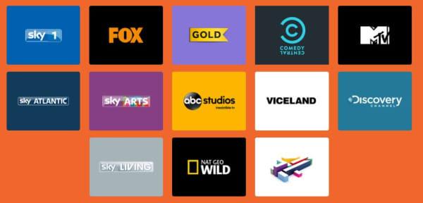 sky now tv entertainment channels
