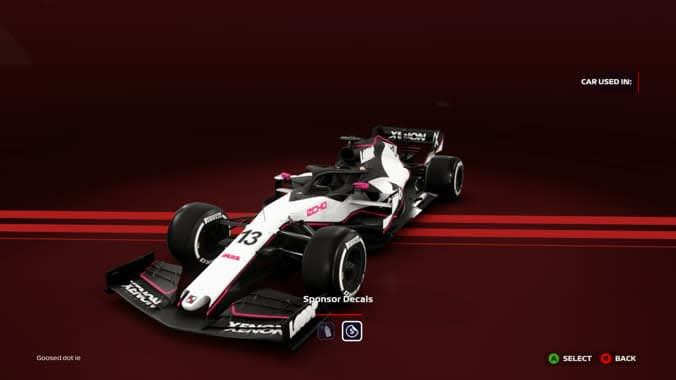 build your own team in F1 2020